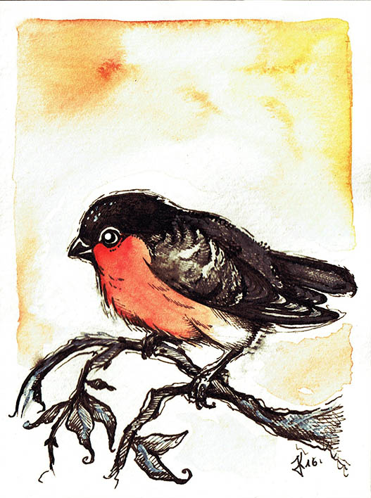 Ink Bird by kiriOkami