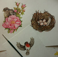 Bird kitsch by kiriOkami