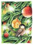 ACEO Christmasbird