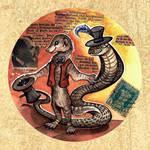 Steampunk Mungo and Cobra by kiriOkami