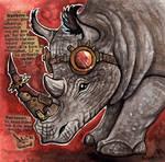 Steampunk Rhino by kiriOkami