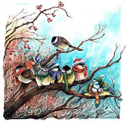 Winterbirds by kiriOkami