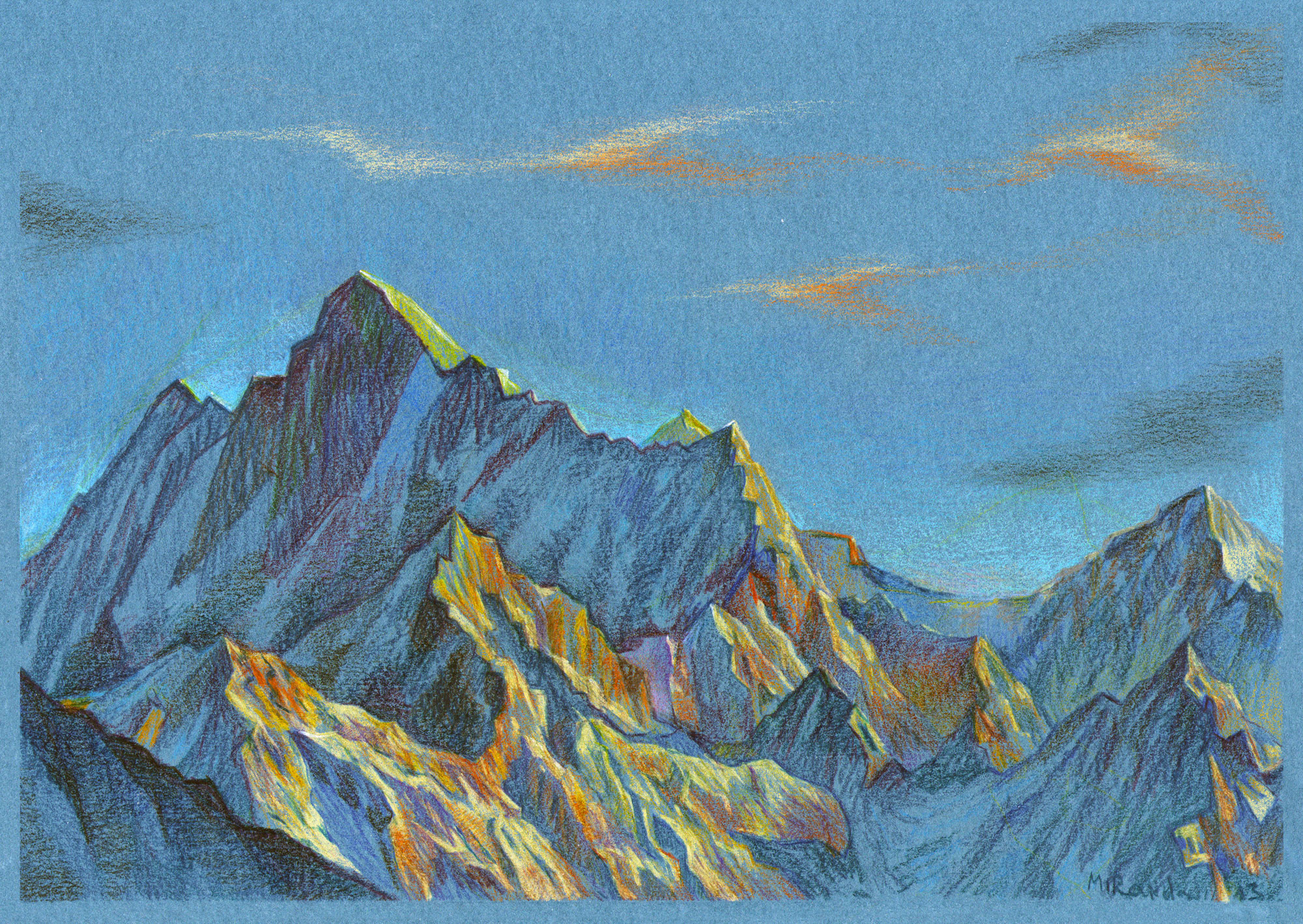mountains by Gabriel-Alia