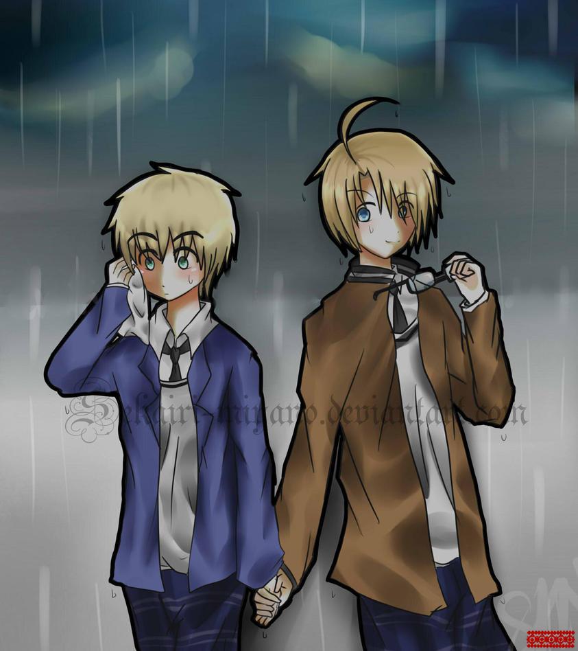 Aph-usuk- Under the rain by Sekairi-Miyano