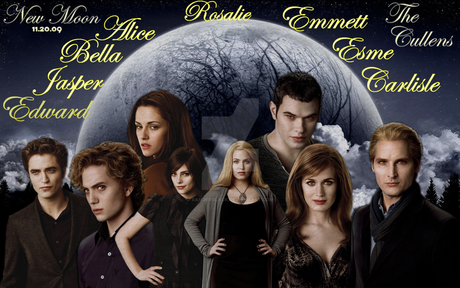 The Cullens new moon: the cullensxanderblack on deviantart