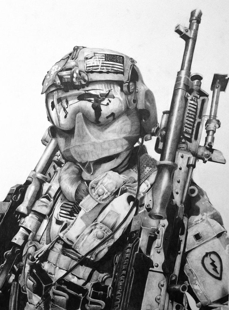 Heavy Brigade Combat Team - Drawing by JeremyEdenArt