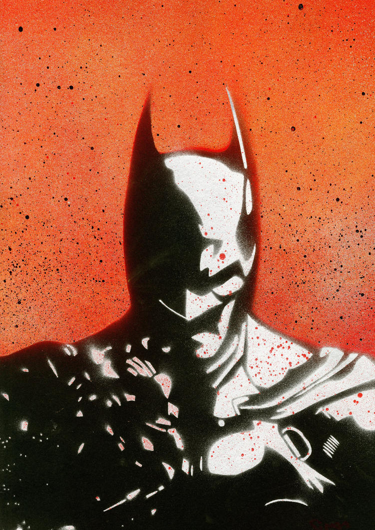 Batman Arkham Origins Graffiti Stencil Poster by SimDoug ...