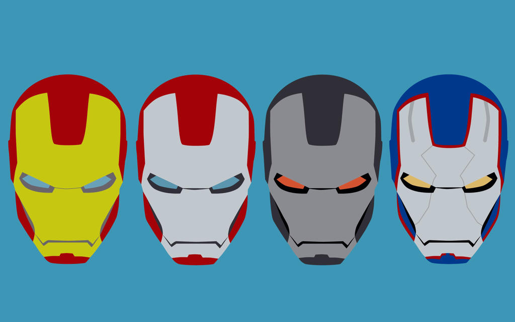 Iron Man helmets touched up by SimDoug
