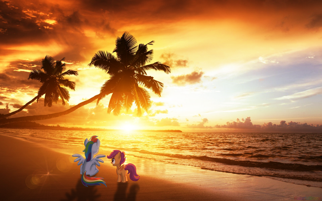 Sunset at the beach [PIRL] by colorfulBrony