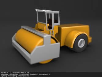 Compactor 3d model by koleos33