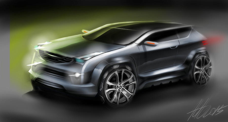Suv Concept Sketch By Koleos33 On DeviantArt