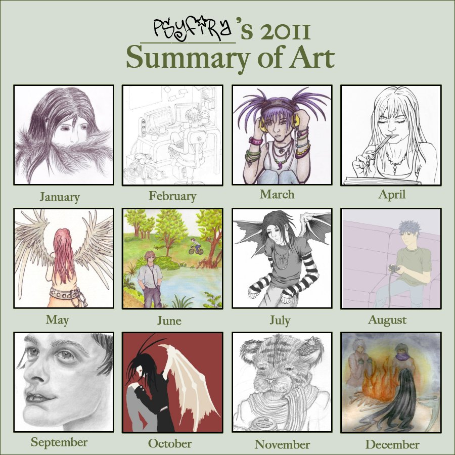 2011 Summary Of Art Meme by Psyfira
