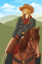 Flint Hills cowgirl