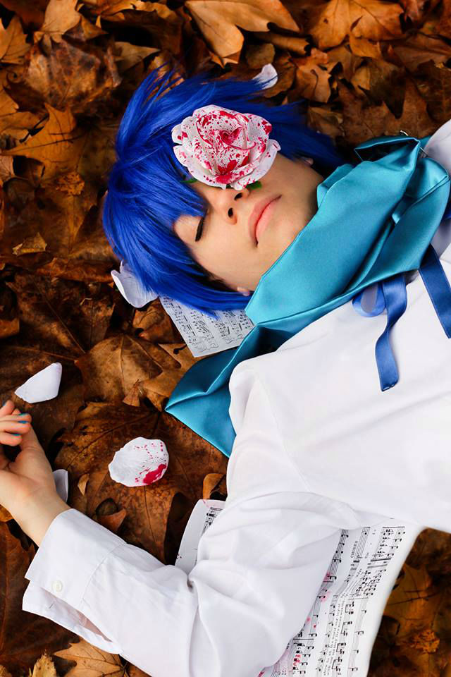 ...silenced him to death... /Kaito-Vocaloid/ by grimmiko88