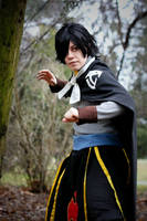 Let's fight Gajeel! /Rogue cosplay/ by grimmiko88