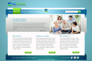 Web site layout for medicine by kazedesign