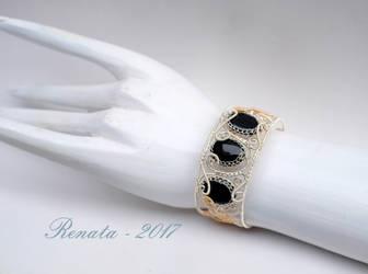 Bound by Hades - Bangle Bracelet (On Hand Model)
