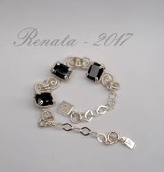 Black Garnet Amulet - Bracelet