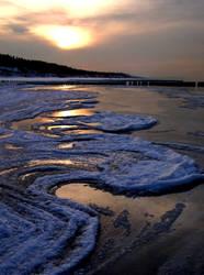 Freezed Baltic Sea