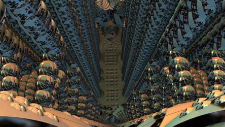Mandelbulb3D Vertigo tunnel bubble world by 1Bryan1