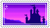 silhouette castle stamp . by memesking