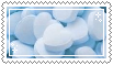 blue heart candies stamp .