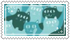 blue cats stamp .