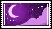 purple moon stamp . by memesking