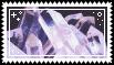 pink quartz crystal stamp .