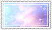 rainbow clouds stamp . by memesking