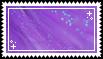 purple sparkles stamp .