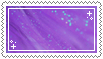 purple sparkles stamp . by memesking