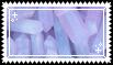 pink // purple crystals stamp . by memesking