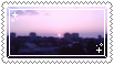 pink sunset stamp . by memesking