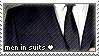 Men in suits stamp by InkiMonster