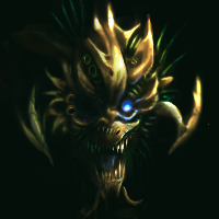 floating gold monster head by Soreiya
