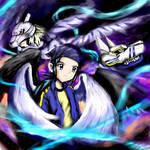 Kouji angel and Digimon