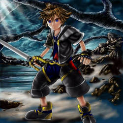 KH2 Sora colored finally by Soreiya