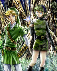Link and Saria collaboration by Soreiya