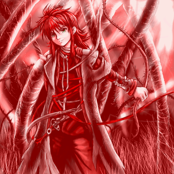Redness and thorns Kurama by Soreiya