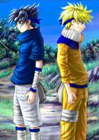 Sasuke and Naruto collab by Soreiya