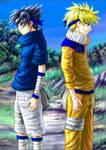 Sasuke and Naruto collab