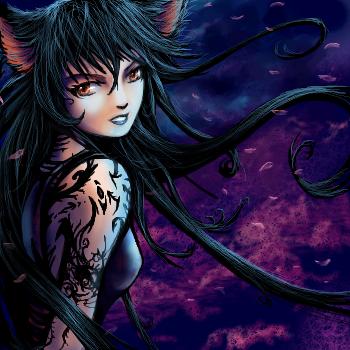 kitty girl colored by Soreiya