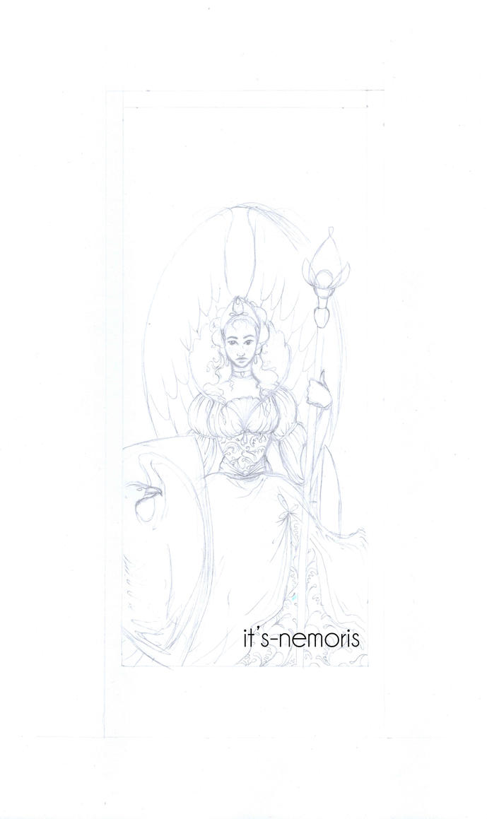 The Empress Card IV WIP by its-nemoris