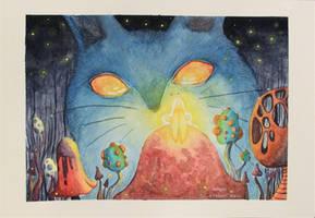 Big Blue Cat by its-nemoris