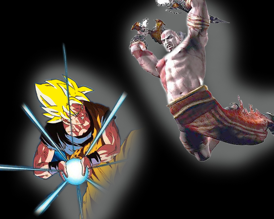 goku vs kratos by gelotim on deviantart