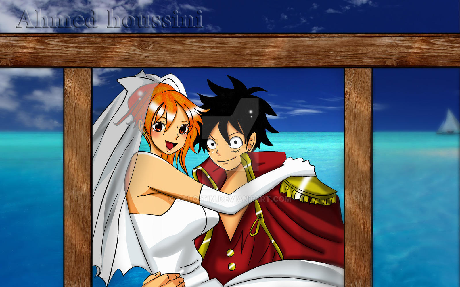 One piece nami and luffy 39 s wedding by gelo tim on deviantart - Image one piece nami ...