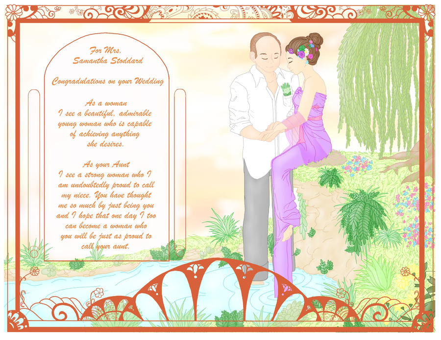 Wedding Card for my Niece by MandyGameHouse on DeviantArt  Niece