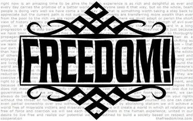 FREEDOM - Banner/Sign