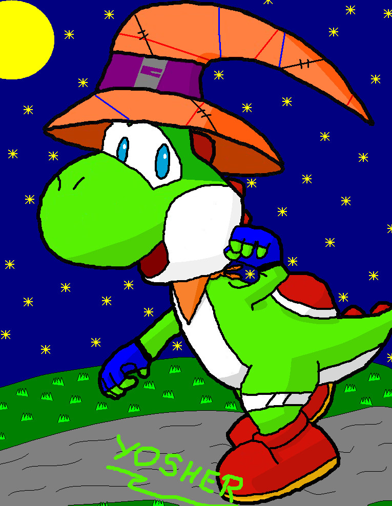 Yosher, the Black Mage Yoshi by Yosher